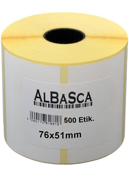 Transfer-Etiketten für Reifen weiss selbstklebend 76*51mm 500 Etik. Rolle Bild 0