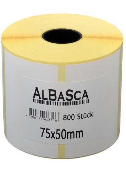 Thermo-Etiketten weiss selbstklebend 75*50mm 800 Etik. Rolle Bild 0